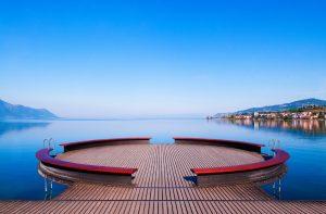 Lake Geneva scenery in Montreux, Switzerland