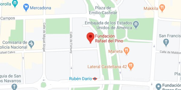 Mapa de situación de la Fundación Rafael del Pino